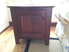 Shaker End Table With Cabinet Pairs Single Drawer 24w X 21deep
