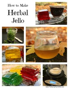 How to Make Herbal Jello - an easy way to get therapeutic levels of herbs into picky kids and those too sick to eat/drink much