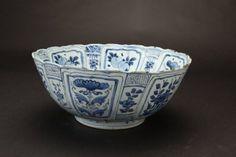 Grand bol en porcelaine de Chine vers 1630-1640