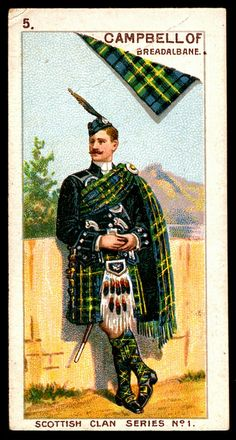 """Mitchell's Cigarettes """"Scottish Clan Series"""" 1903. #5 Campbell of Breadalbane 