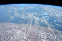 Dust blows over Somalia into the Indian Ocean from
