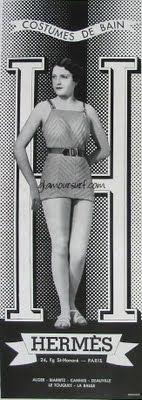 Glamoursplash: Early Vintage HERMES Swimwear Advertisements