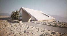 architekturvisualisierung aiko design villa wüste dachschräge