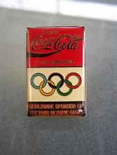 Coca Cola Coke 1988 Seoul Olympics worldwide sponser enamel badge    65