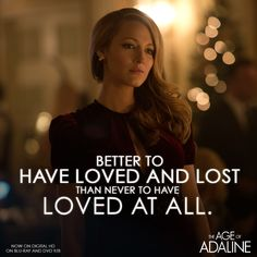 Never let time get in the way of love. #Adaline