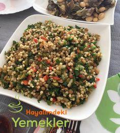 Yeşil Mercimekli Kuskus Salatası | Resimli Yemek Tarifleri Hayalimdeki Yemekler