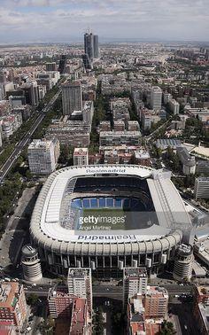 An aerial view of Real Madrid's Santiago Bernabeu stadium on July 23, 2007 in Madrid, Spain