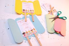Papiergoed - IJsjes uitnodiging voor kinderfeestje, download | birthday party invitation icecream