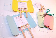 Papiergoed - IJsjes uitnodiging voor kinderfeestje, download | birthday party invitation icecream