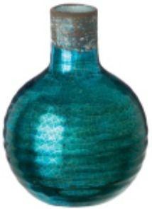 "Metallic Blue Vase, 6"" Metallic Blue, Home Decor Items, Decorative Items, Vase, Floral, Style, Swag, Decorative Objects, Flowers"