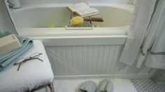Give Your Bathtub a Custom Look with a Beadboard Panel