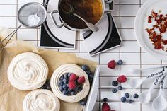 Meringue for Pavlova by Natasha Breen on @creativemarket