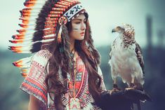 Beautiful Girl - American Indian Style Version 2.0 - Wallpaper HD