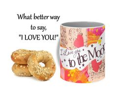 I Love You to the Moon & Back Ceramic Coffee by ValleeRoseDesigns