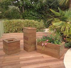 jardinière, herbes aromatiques , potager , douglas , bois extérieur, pot de fleurs, bois exotique, palmier
