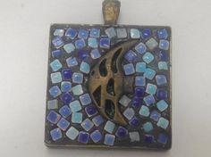 Mosaic fish necklace / mosaic pendant / by RebelGlassWorks on Etsy