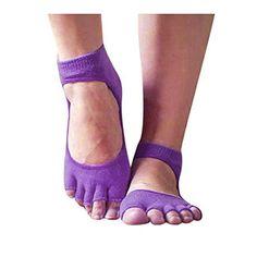 59e6d6af49afc1 Surfwheel Men   Women Toeless Yoga Socks (Bella Grip Socks) Non Slip Socks