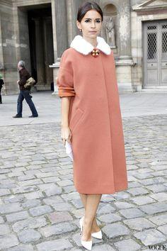 Мирослава Дума перед показом Louis Vuitton весна/лето 2013