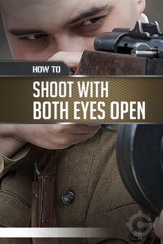Gun shooting techniques to hit your target with both eyes open. Practice at the shooting range with your dominant eye open. Better sight ensures gun safety.