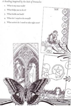 Z  A Reading Inspired by the suit of Pentacles