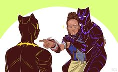 """Shuri and T'Challa by cyanwhisky """"Don't you dare hurt my brother"""" 