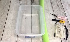 Relaxing in your pool & getting thirsty? No need to get out. Tie this cooler to your raft & stay in the pool all day long! You will need a plastic container - o…