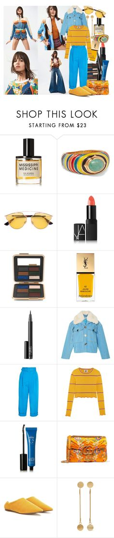 """The sunset's black and white, it didn't used to be"" by brownish ❤ liked on Polyvore featuring D.S. & DURGA, Diego Percossi Papi, Christian Dior, NARS Cosmetics, Estée Lauder, Yves Saint Laurent, Isa Arfen, Topshop Unique, Eyeko and Gucci"