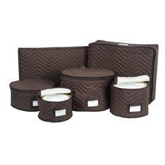 Charmant China Storage   Padded Cotton 6 Piece Set (Chocolate) (6 Piece Set)