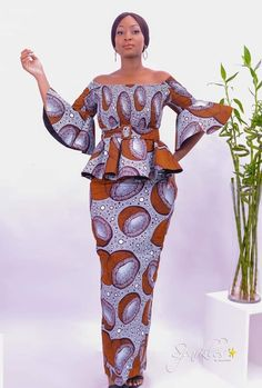 African Fashion Skirts, African Wear Dresses, African Print Fashion, Godmother Dress, African Print Dress Designs, African Traditional Dresses, Dress Patterns, Designer Dresses, Parfait