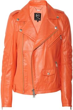 MCQ ALEXANDER MCQUEEN  leather biker jacket