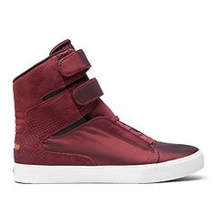 9ea8c7220be Supra Shoes, Wardrobe Closet, Red Sneakers, High Top Sneakers, Skate