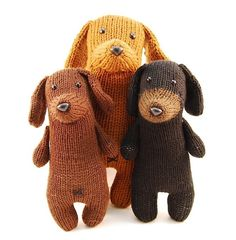 Danger Crafts PDF Knitting Pattern - Tofu the Gentle Dachshund