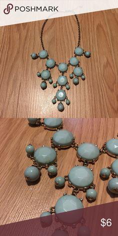 Bubble Necklace Light blue shorter style bubble necklace. Short but has a short adjustable chain. No trades. Jewelry Necklaces