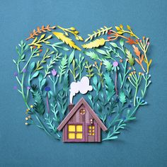 Paper art by Margaret Scrinkl