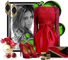 """""""RED SHOES"""" by dicabria ❤ liked on Polyvore"""