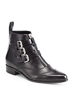Tabitha Simmons - Early Leather Motorcycle Ankle Boots
