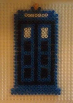 I got my ironing (Perler) beads out for another project but made a quick TARDIS instead!