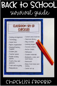 Are you getting ready to set up your classroom? You'll love this must have checklist FREEBIE! Click through to see more!