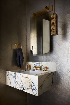 Bathroom Inspo, Bathroom Inspiration, Modern Bathroom, Interior Inspiration, Bathroom Interior Design, Interior Decorating, Custom Mirrors, Tadelakt, Floating Vanity