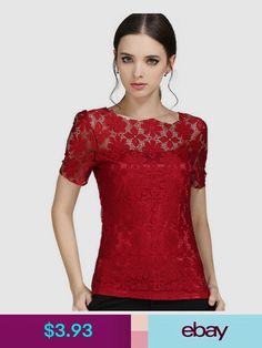 1a6f4f5ec417d0 2017 New Women Casual Basic Casual Summer Lace Blouse Top Shirt Solid  Hollow out Embroidery blusas Short sleeves Plus Size