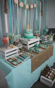 Bridal Brunch At The Beach Beach Themed Wedding Shower Party Ideas