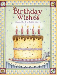 Leanin Tree Birthday Note Card Assortment   Birthday Wishes by Debbie Mumm