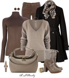 """""""Earthy tones"""" by fiona-stanley ❤ liked on Polyvore"""