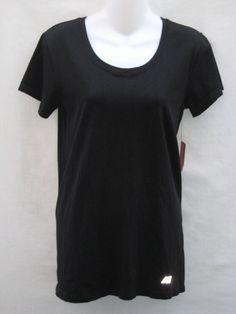 New Balance Women's Short Sleeve T Shirt Top Athletic Running Yoga Gym XL Black #NewBalance #ShirtsTops