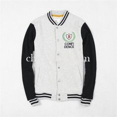 Mens Baseball Black Beige Letter B Jacket 2015