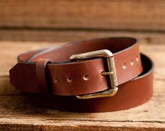 Leather Belt Full Grain Leather Belt Brown Leather Belt