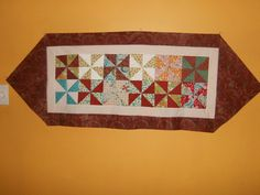 Pinwheel table runner. Pinwheels, Table Runners, Quilts, Blanket, Projects, Home, Log Projects, House, Quilt Sets