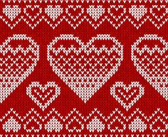 Buy Valentines Day Red Knitted Seamless Pattern by art_of_sun on GraphicRiver. Editable EPS and Render in JPG format Knitting Charts, Knitting Stitches, Knitting Designs, Stitch Patterns, Knitting Patterns, Crochet Patterns, Images For Valentines Day, Knitted Flowers, Fair Isle Pattern
