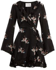 May 2020 - Athena Procopiou - Floral-print Silk Dress - Womens - Black Print Casual Dress Outfits, Trendy Outfits, Spring Outfits, Elegant Dresses, Beautiful Dresses, Floral Dresses, Silk Dress, Dress Up, Silk Skirt