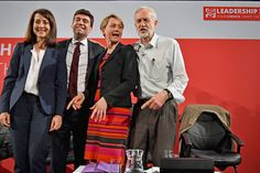 Labours candidates for Leader and Deputy Leader Liz Kendall,Andy Burnham, Yvette Cooper  and Jeremy Corbyn take part in a hustings in The Old Fruitmarket, Candleriggs on July 10, 2015 in Glasgow, Scotland.